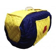 Чехол на контейнер желто-синий